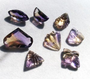 natural ametrine gemstones
