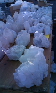 Quartz at tucson gem shows
