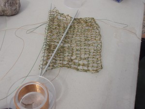 Bea Grob knitted wire swatch