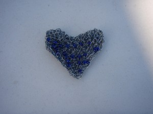 Wire Knit Heart