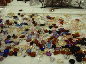 Sparkling crystal pendants