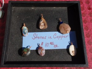 stones in copper