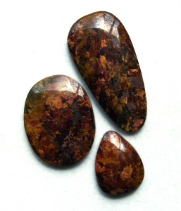 brown and gold pietersite cabochons