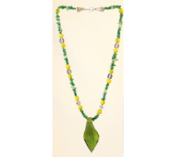 aventurine beaded necklace