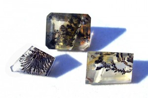 dendritic quartz stones, with inclusions like tree branches