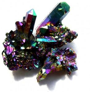 Flame aura quartz