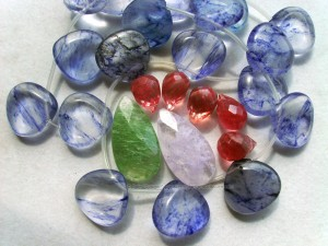 Fruit quartz beads