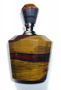 Carved tiger iron perfume bottle