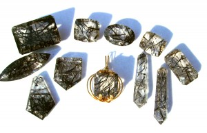 cut tourmalated quartz