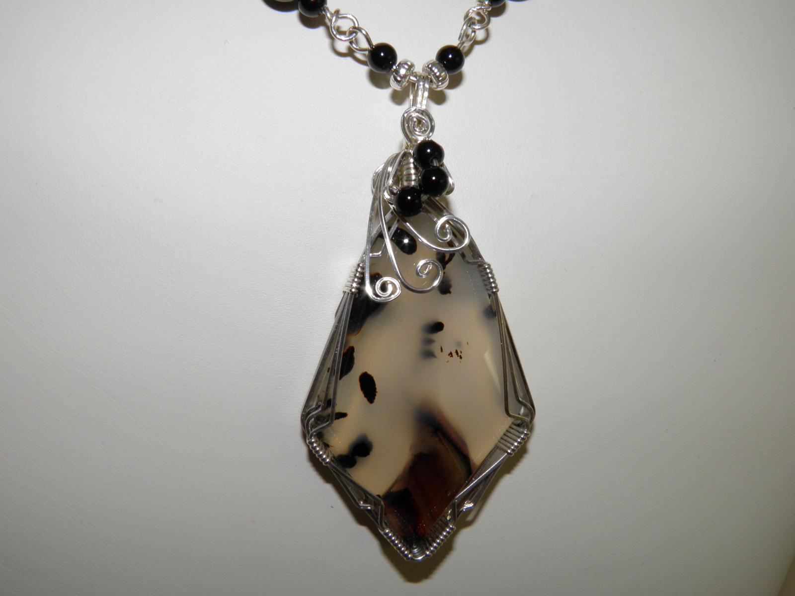 a sterling agate linked moss vintage necklaces jewellery necklace cabochon products silver hound