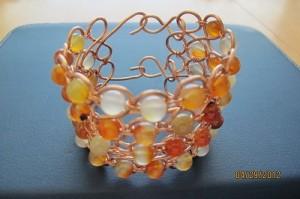 Carnelian Wire Bracelet by Carol Rokey