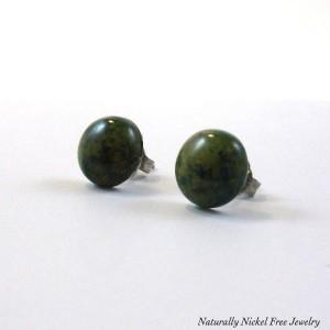 Nickel-free chrysocolla earrings