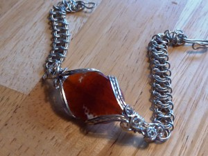 Carnelian Chainmaille Bracelet by JMG Creations
