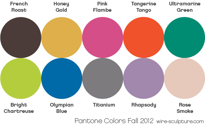 9880639458157b Wire Jewelry Tip July 11  Pantone`s Fall 2012 Color Forecast ...