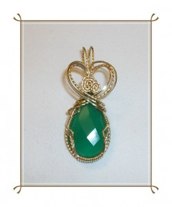 Green Onyx Pendant by Joan Madouse
