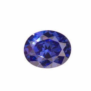 This cubic zironia matches the color of tanzanite at a mere fraction of the cost.