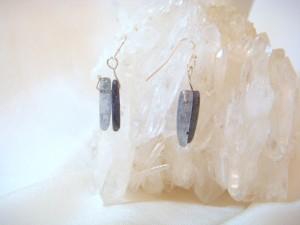 Kyanite Bead Wire Earrings
