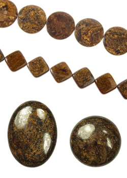 Bronzite Cabochons and Beads