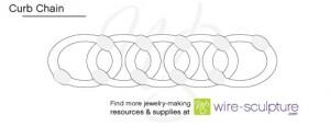Curb Chain Diagram copyright Wire-Sculpture.com