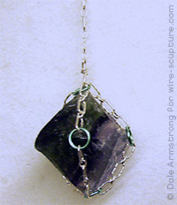 Chain Cage for Fluorite Crystal by Dale Cougar Armstrong