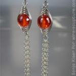 Herringbone Chain Earrings by Sonja Kiser
