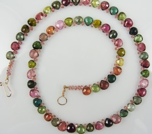 Tourmaline Bead Choker by Gail Maas