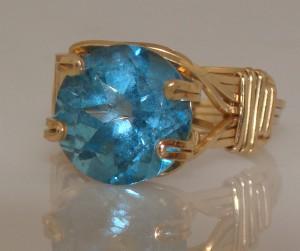 Swiss Blue Topaz Ring by Gail Maas