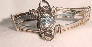 lone star cut blue topaz bracelet