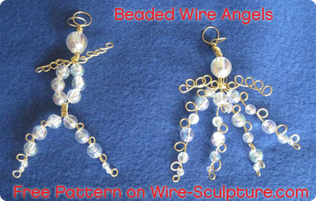 Wire Wrapped Angels Free Pattern Jewelry Making Blog