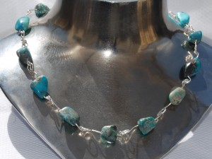 Kokopelli sterling silver turquoise necklace