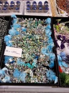 Blue opal briolettes