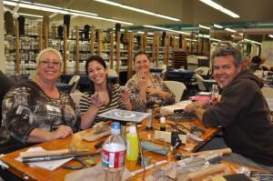 Jeff Fulkerson teaching metalsmithing at JOGS in Tucson
