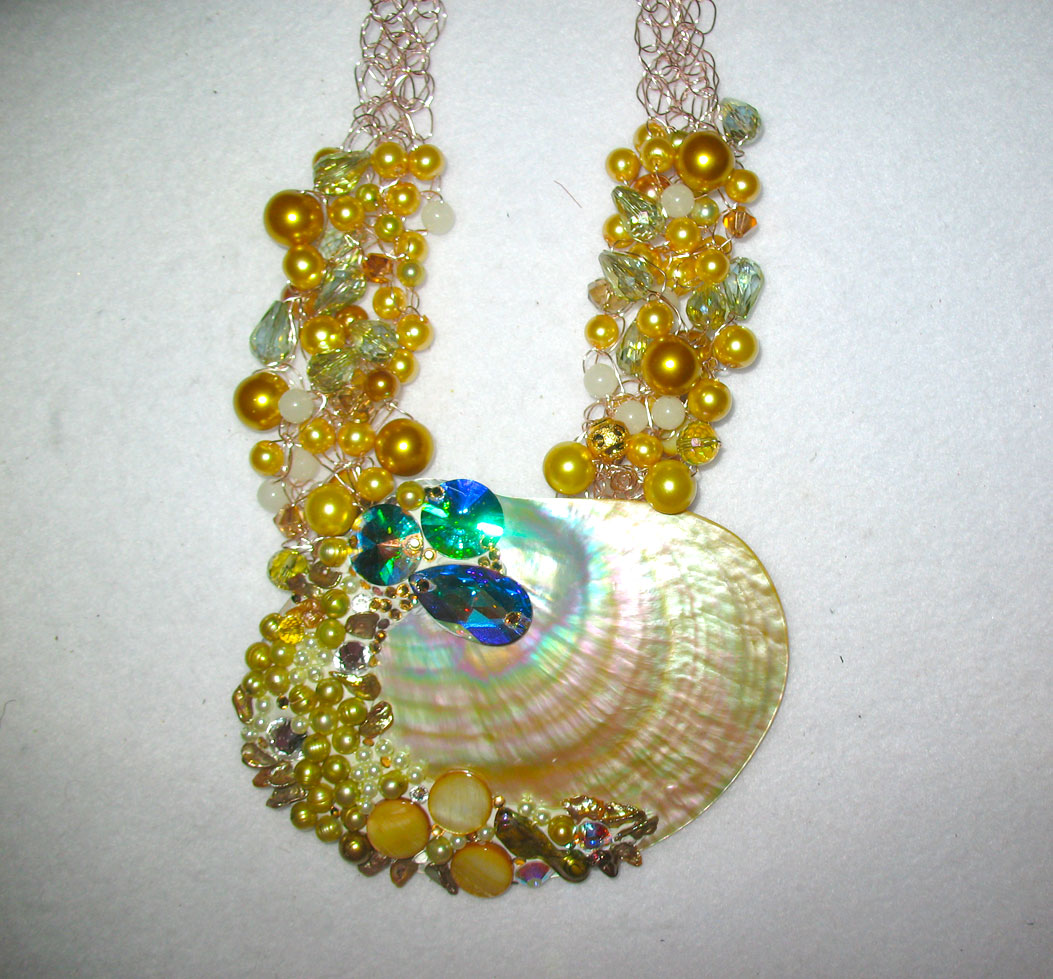 Diana Harwood Used Swarovski Crystals And Crystal Clay To Embellish This  Shell, Which Is On