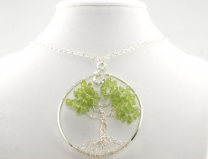 Peridot Tree of Life Pendant by Angelle McDougall