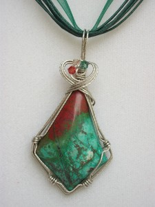 gem 3, wire wrapped by Gina Smith