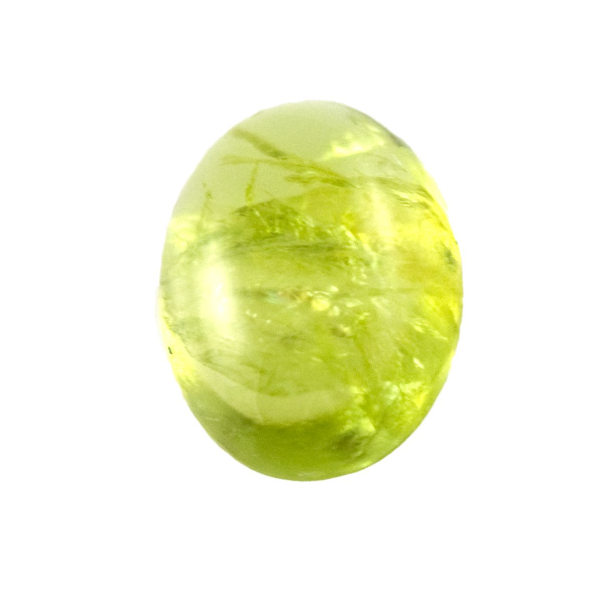 Bright green Peridot Cabochon