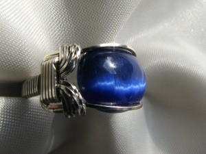 Blu Cat's Eye Ring