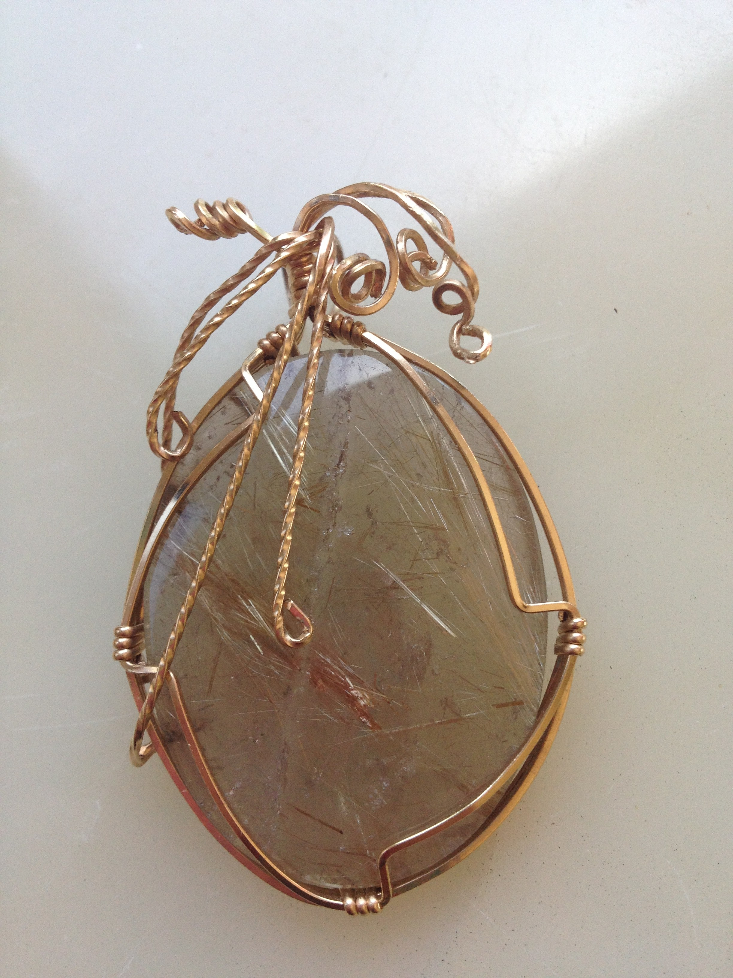 Wire wrapped cabachon