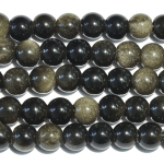 Golden Obsidian Large Hole Beads