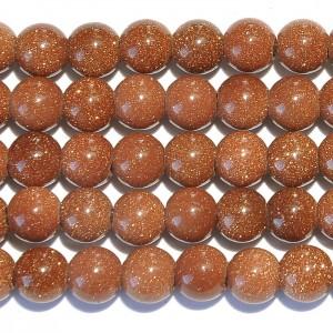 Goldstone Large Hole Beads