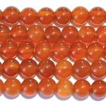 Matte Carnelian Large Hole  Beads