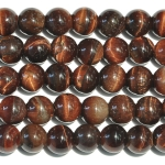 Red Tiger Eye Large Hole Beads