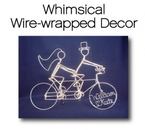 Whimsical wire decor