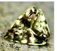 Green Zultanite gemstone