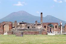 Pompeii with Mt. Vesuvius in the background