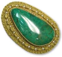 Eilat stone pendant. courtesy of Ophir jewelry