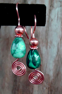 Free Wire Jewelry Pattern; All-Inclusive Earrings by Mary W. Bailey