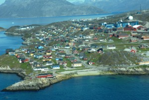Aerial view of Nuuk, Photo courtesy of Greenland tourism