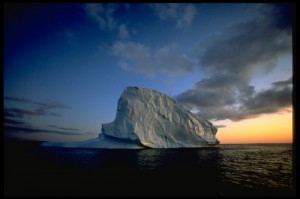 Icebergs in midnight sun_greenland. Photo by  Manfred Horender. Greenland tourism