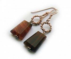 AManning -Cornelian earrings